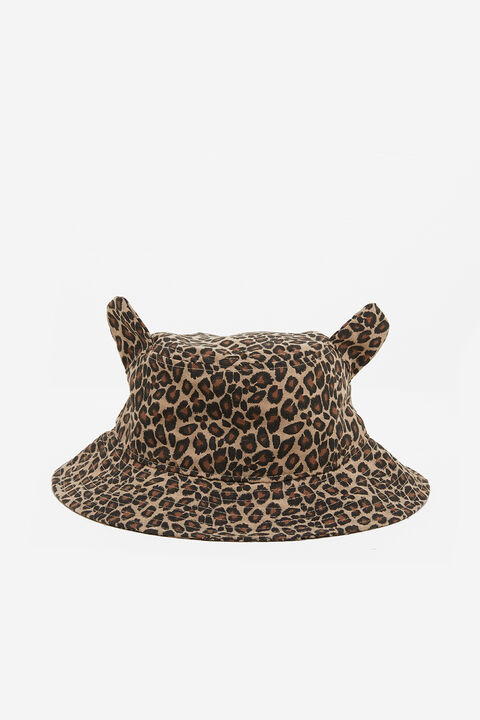 ANIMAL BUCKET HAT in colour LATTE