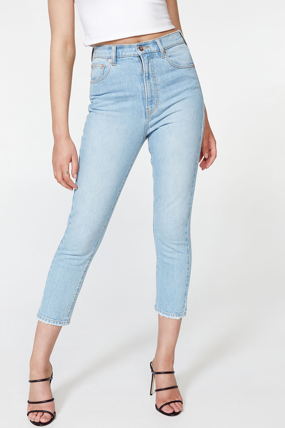 STRAIGHT SUPER HIGH JEAN in colour TRUE NAVY