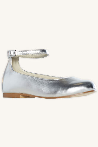 GRACE METALLIC BALLET FLAT in colour SILVER