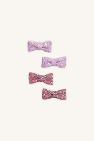 GLITZ CLIPS in colour PINK CARNATION