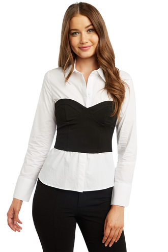 BODICE SHIRT in colour BRIGHT WHITE