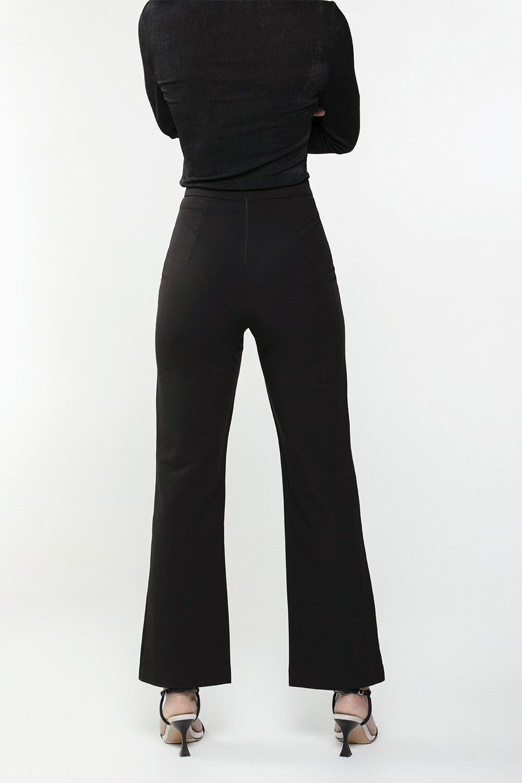 CELIE KICK FLARE PANT  in colour CAVIAR