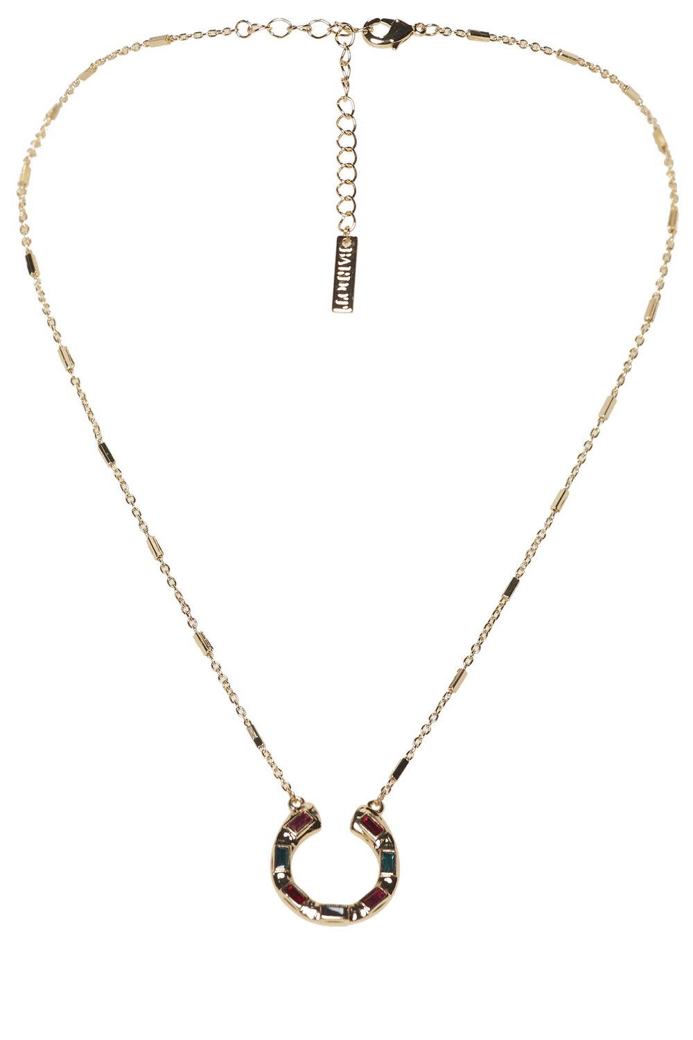 HORSE SHOE NECKLACE in colour GOLD EARTH