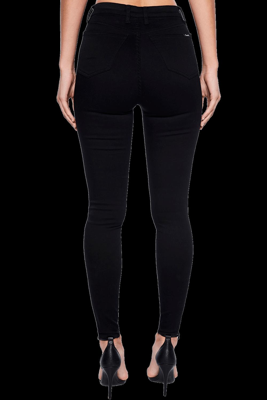 HOLLY HIGH BLACK JEAN in colour CAVIAR