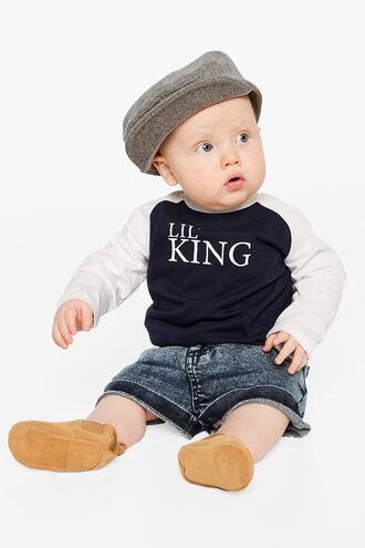 LIL KING L/S TEE in colour DRESS BLUES