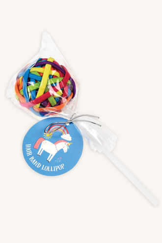HAIR BAND LOLLIPOP - UNICORN in colour BRIGHT WHITE