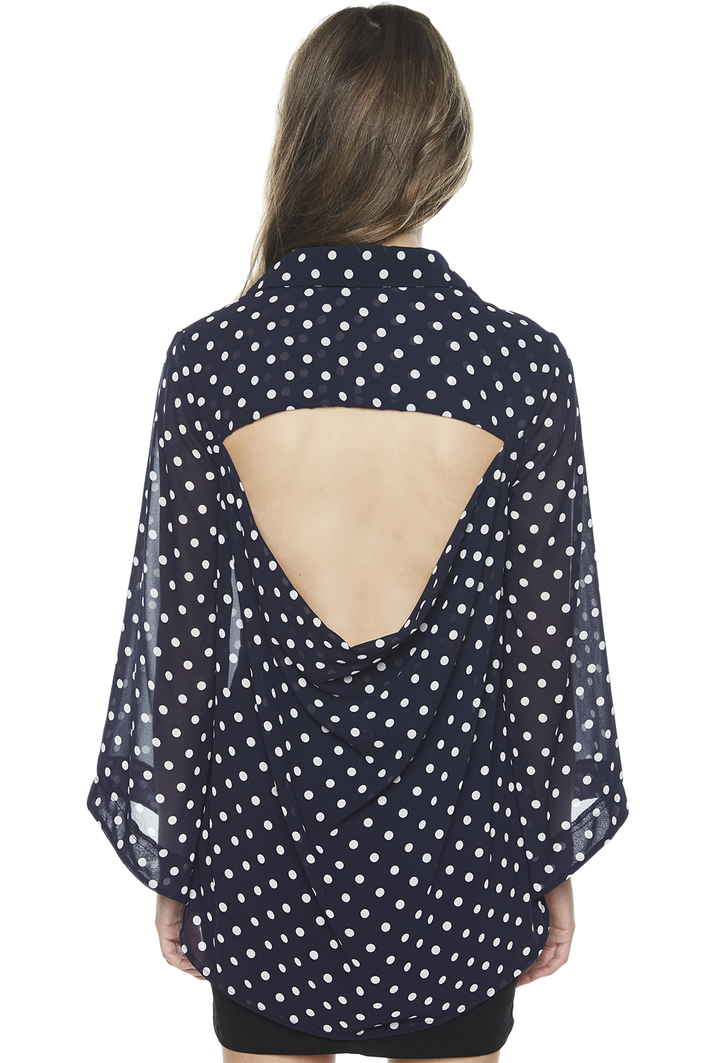 COWL BACK SHIRT in colour MARITIME BLUE