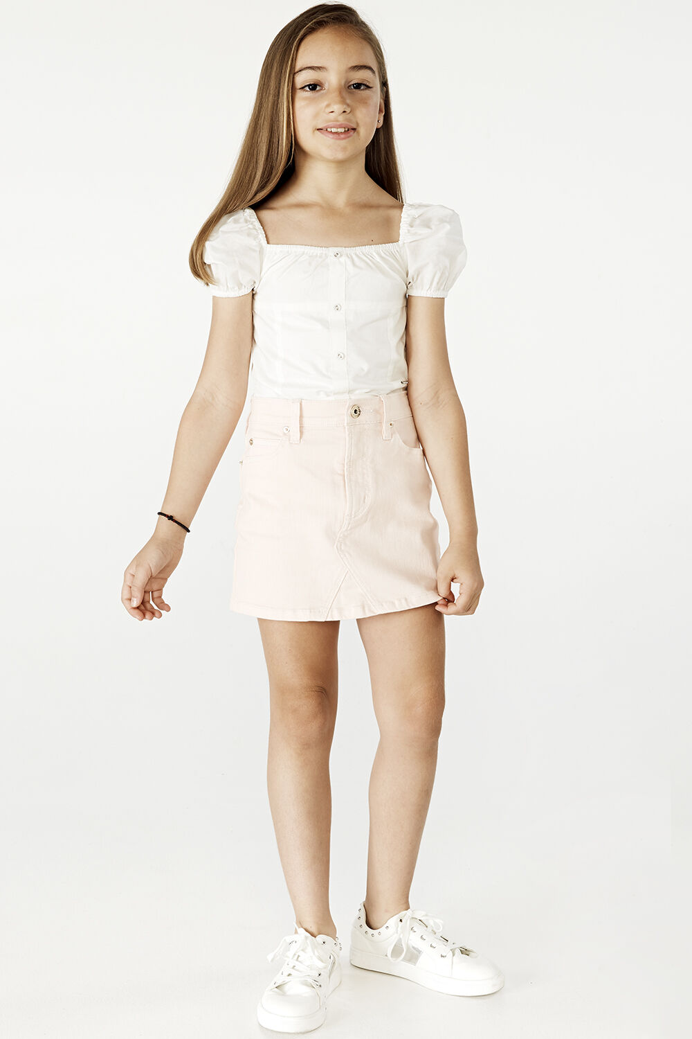tween girl CHRISTIE TOP in colour CLOUD DANCER