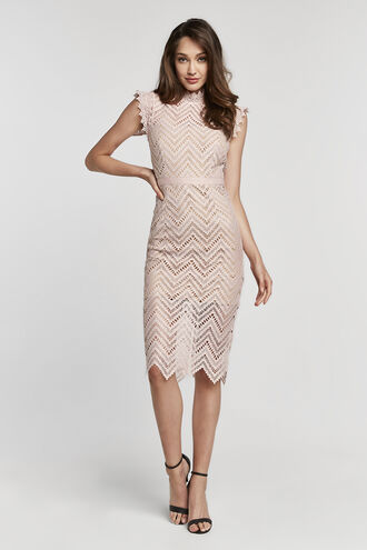 IMOGEN LACE DRESS in colour DELICACY