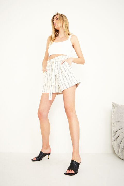 THE STRIPE SHORT in colour POWDER PUFF