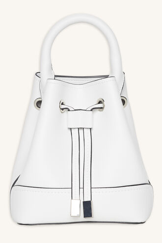 CROSS BODY SMALL DRAWSTRING BAG in colour WHITE ALYSSUM