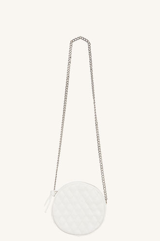 CIRCLE QUILTED SLING BAG in colour WHITE ALYSSUM