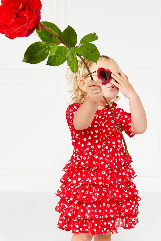 MAYA RA RA DRESS in colour LIPSTICK RED