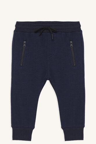 RIB TRACK PANT in colour MARITIME BLUE