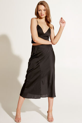 MAYAH SPLICED SKIRT in colour CAVIAR