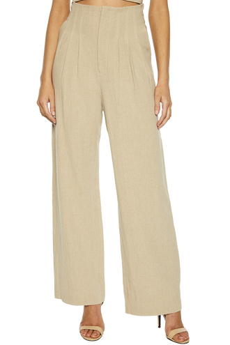 TALINA WIDE LEG PANT in colour WHITE PEPPER