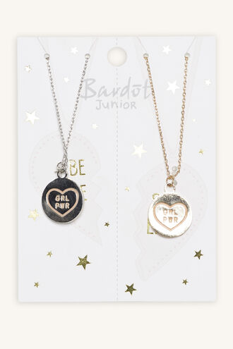 GIRL POWER NECKLACE SET in colour SILVER