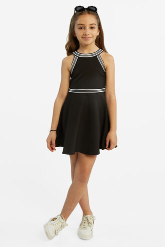 HAZEL HALTER DRESS in colour JET BLACK