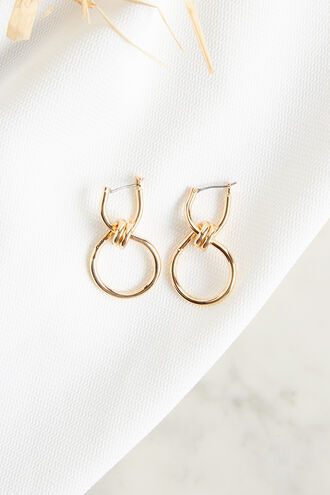 DOUBLE KNOT EARRINGS in colour GOLD EARTH