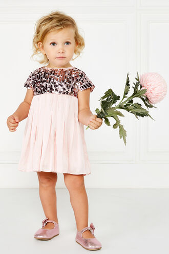 NOLENE SEQUIN DRESS in colour PRIMROSE PINK
