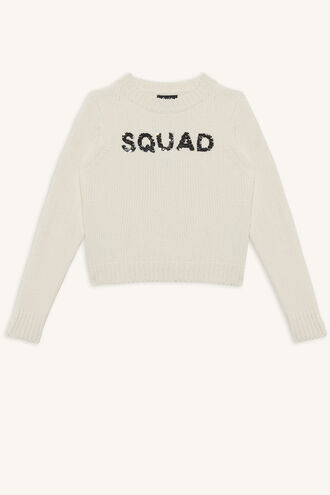 SQUAD FLIPPY KNIT in colour GARDENIA
