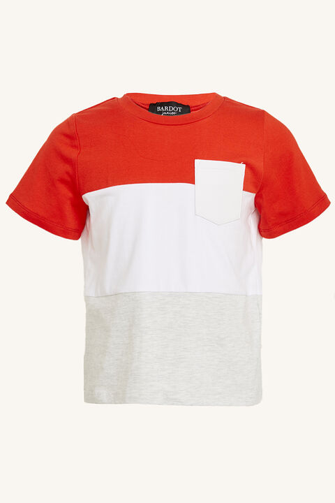 EVAN SPLICED TEE in colour FORMULA ONE