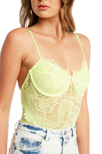 BRITNEY BODYSUIT. in colour LIMELIGHT