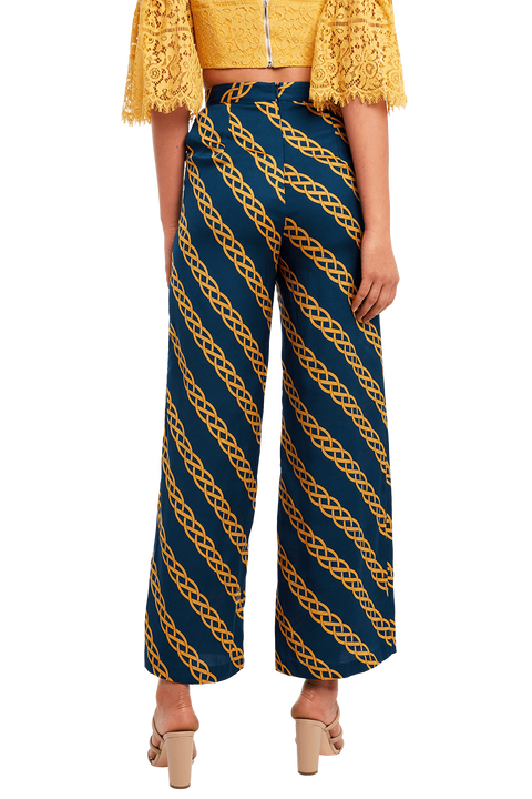 CHAIN PRINT PANT in colour PONDEROSA PINE