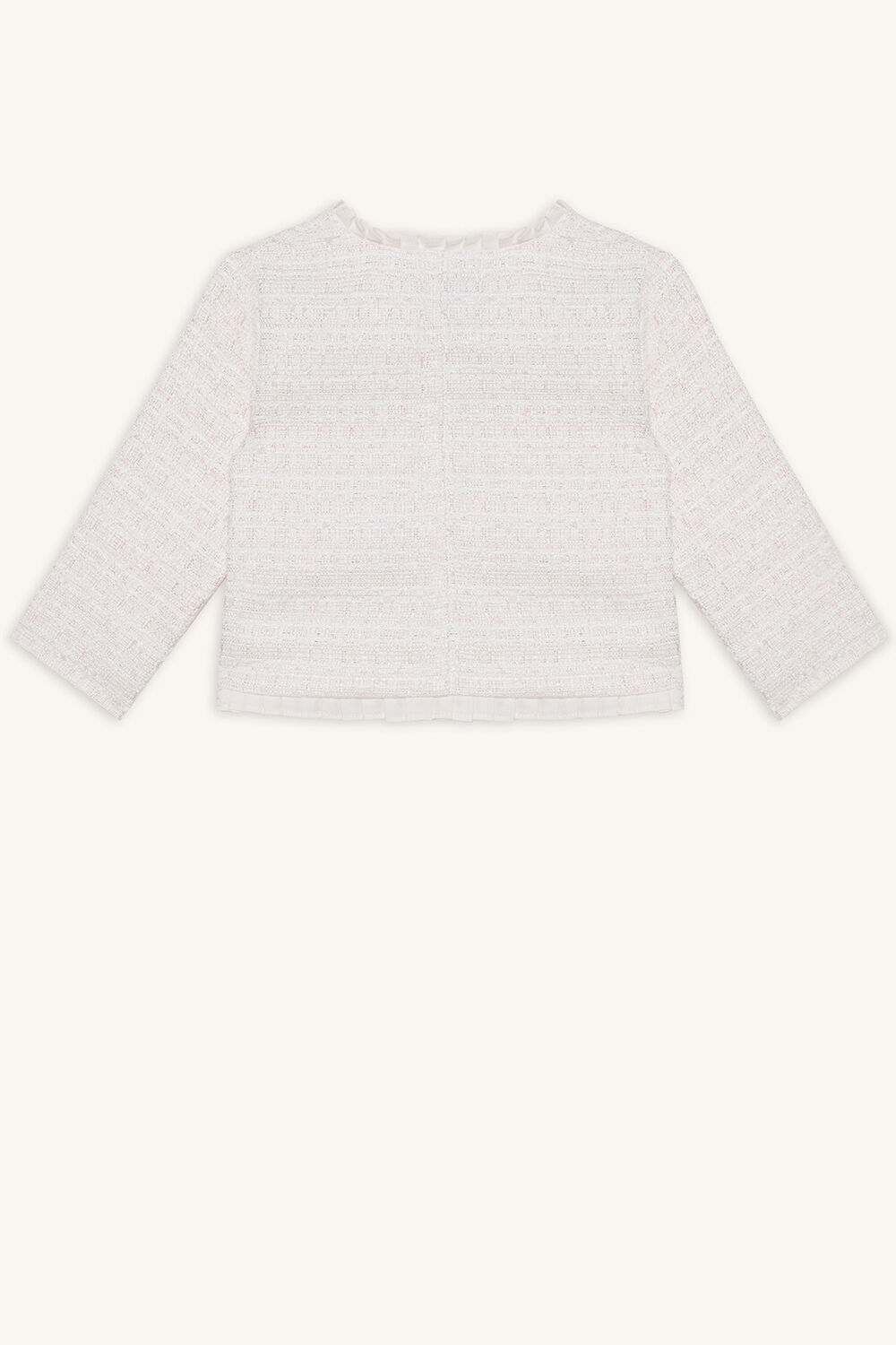 COCO FRILL JACKET in colour CRYSTAL PINK