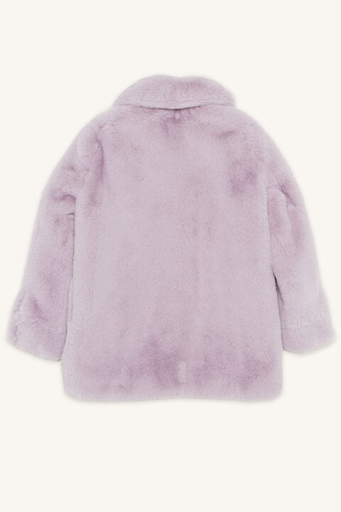 PIA FAUX FUR BOMBER in colour LILAC HINT
