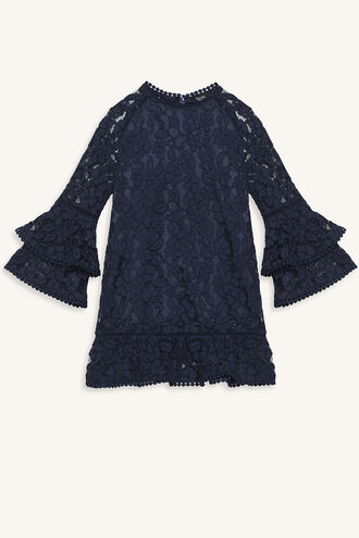 LAURENT LACE DRESS in colour BLACK IRIS