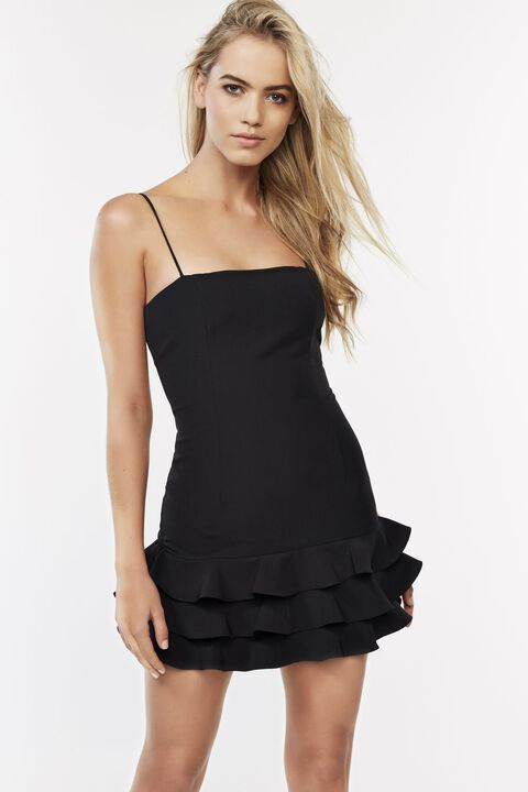 GIANNA MINI DRESS in colour CAVIAR
