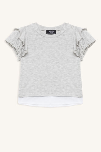 BUBBLE SLEEVE TEE in colour FROST GRAY