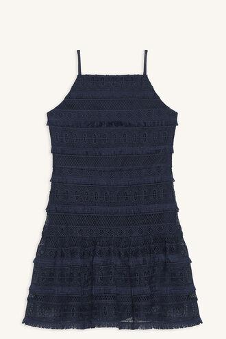 SKYLER LINEAR DRESS in colour BLACK IRIS