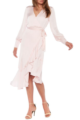 SOFIE MIDI DRESS in colour PALE DOGWOOD