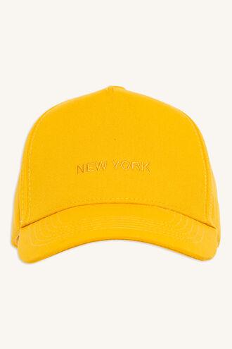 NEW YORK CAP in colour YELLOW CREAM
