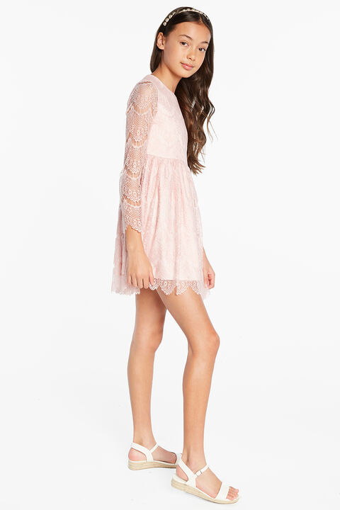 TWEEN GIRL GERTRUDE LACE DRESS in colour TUSCANY