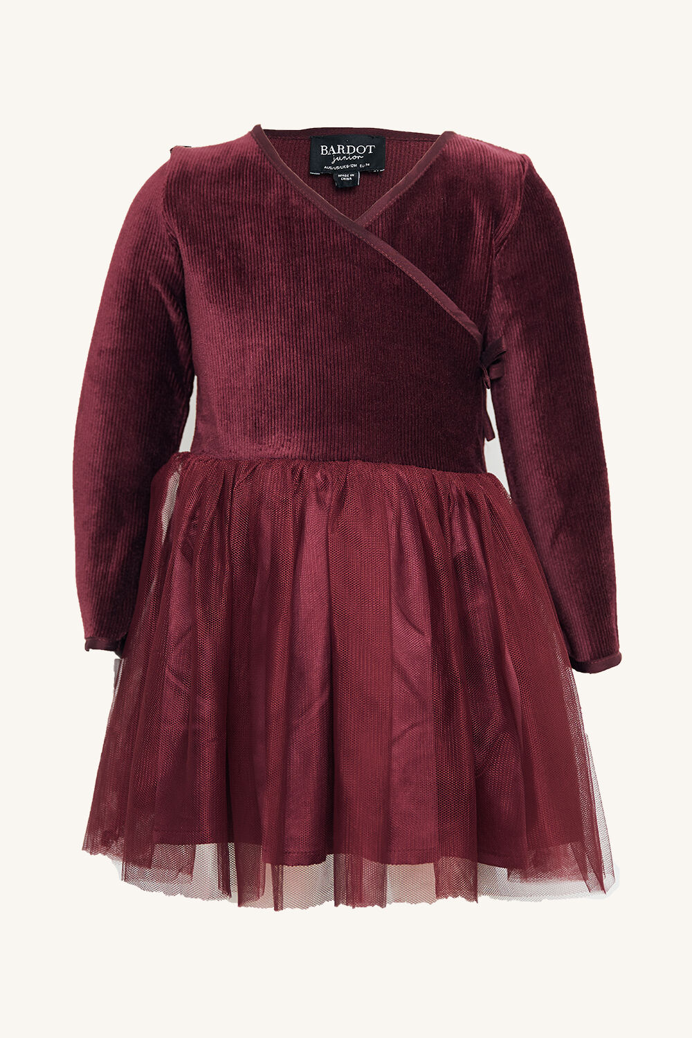 BABY GIRL WRAP BALLET DRESS in colour RHODODENDRON