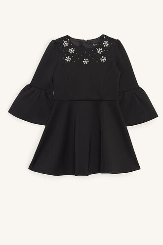 AUDREY JEWEL DRESS in colour JET BLACK