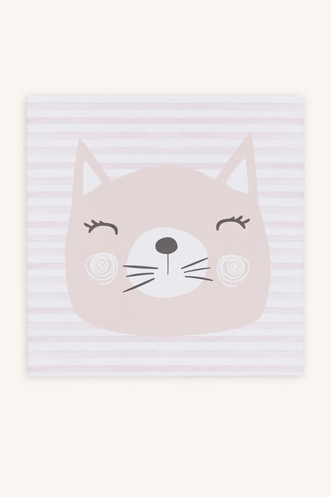 KITTY CAT GIFT CARD in colour PINK CARNATION