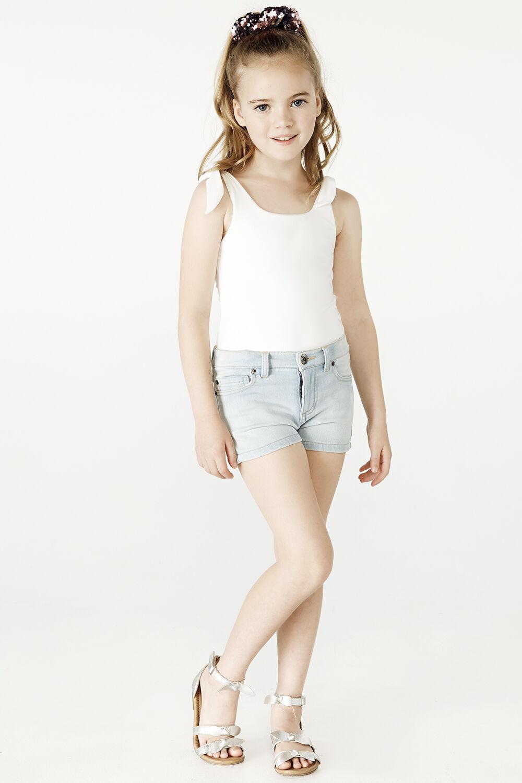 LEILA BOW BODYSUIT in colour BRIGHT WHITE