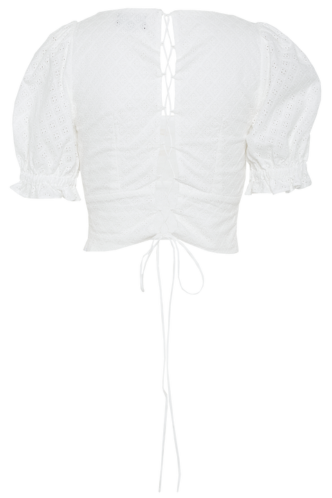 LEILA BLOUSE in colour BRIGHT WHITE