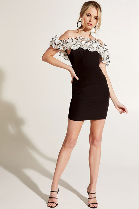 AVA DRESS in colour CAVIAR