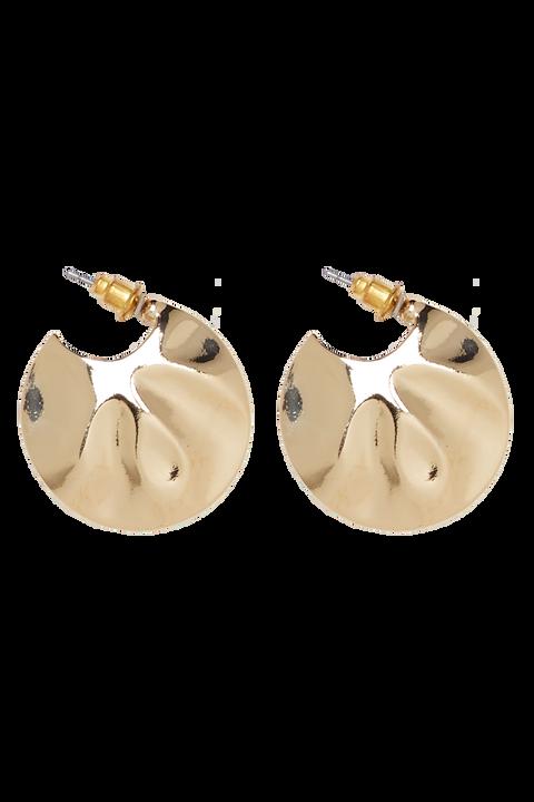 OYSTER HOOP EARRINGS in colour GOLD EARTH