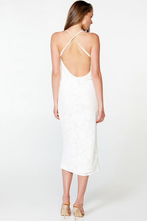 TEMPEST SLIP DRESS in colour CLOUD DANCER