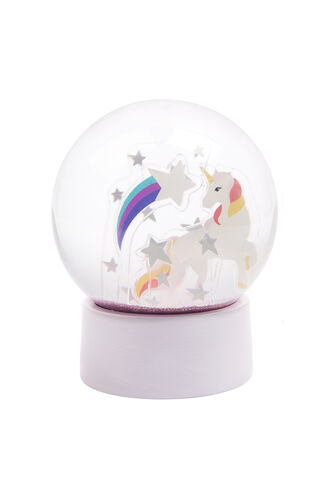 Glitter Globe Stardust in colour BRIGHT WHITE
