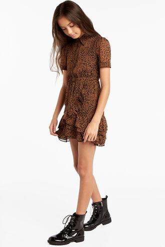 GRETTA SHIRT DRESS in colour TOBACCO BROWN