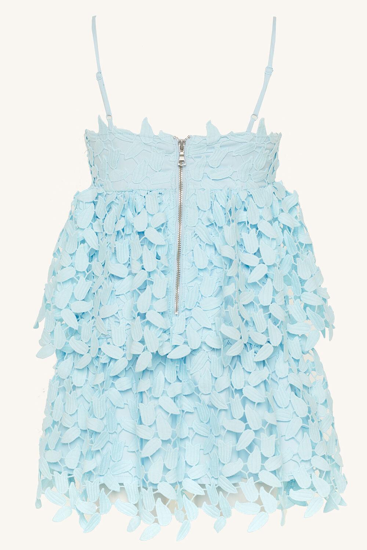 TWEEN GIRL DARCY LEAF DRESS   in colour CRYSTAL BLUE