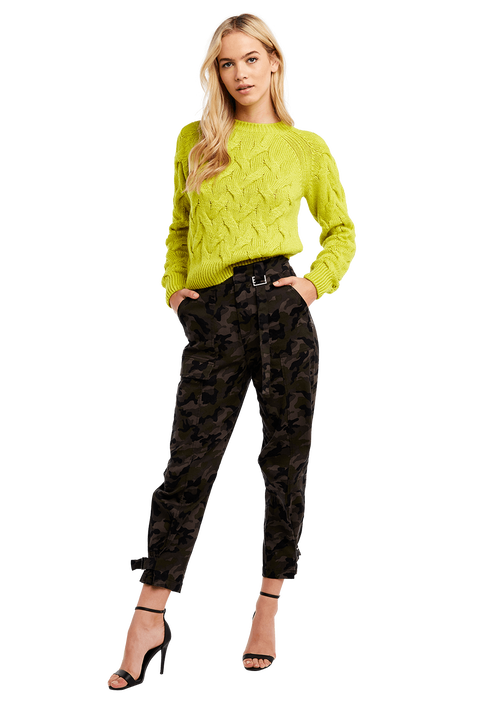 RILEY CAMO PANT in colour BURNT OLIVE