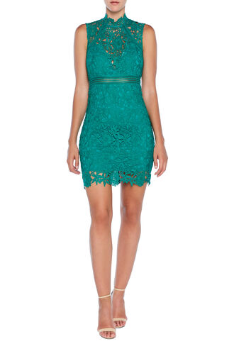 ELENI LACE DRESS in colour GREENLAKE